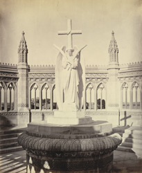 Marble statue by Marochetti over the Memorial Well, Kanpur